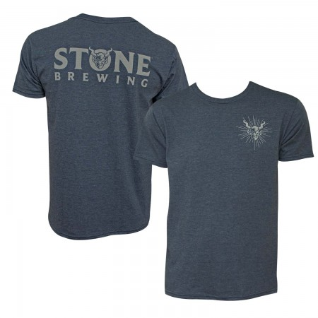 Stone Brewing Gargoyle logo Heather Blue Men's T-Shirt