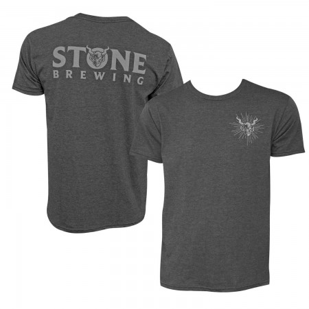 Stone Brewing Gargoyle Logo Gray Men's T-Shirt