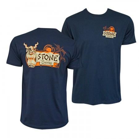 Stone Brewing Hana Tiki Logo Men's Navy Blue T-Shirt