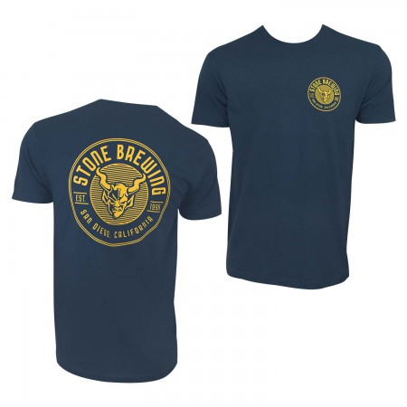 Stone Brewing Co Men's Navy Blue Criterion T-Shirt