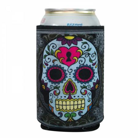 Sugar Skull Insulated Beer Sleeve