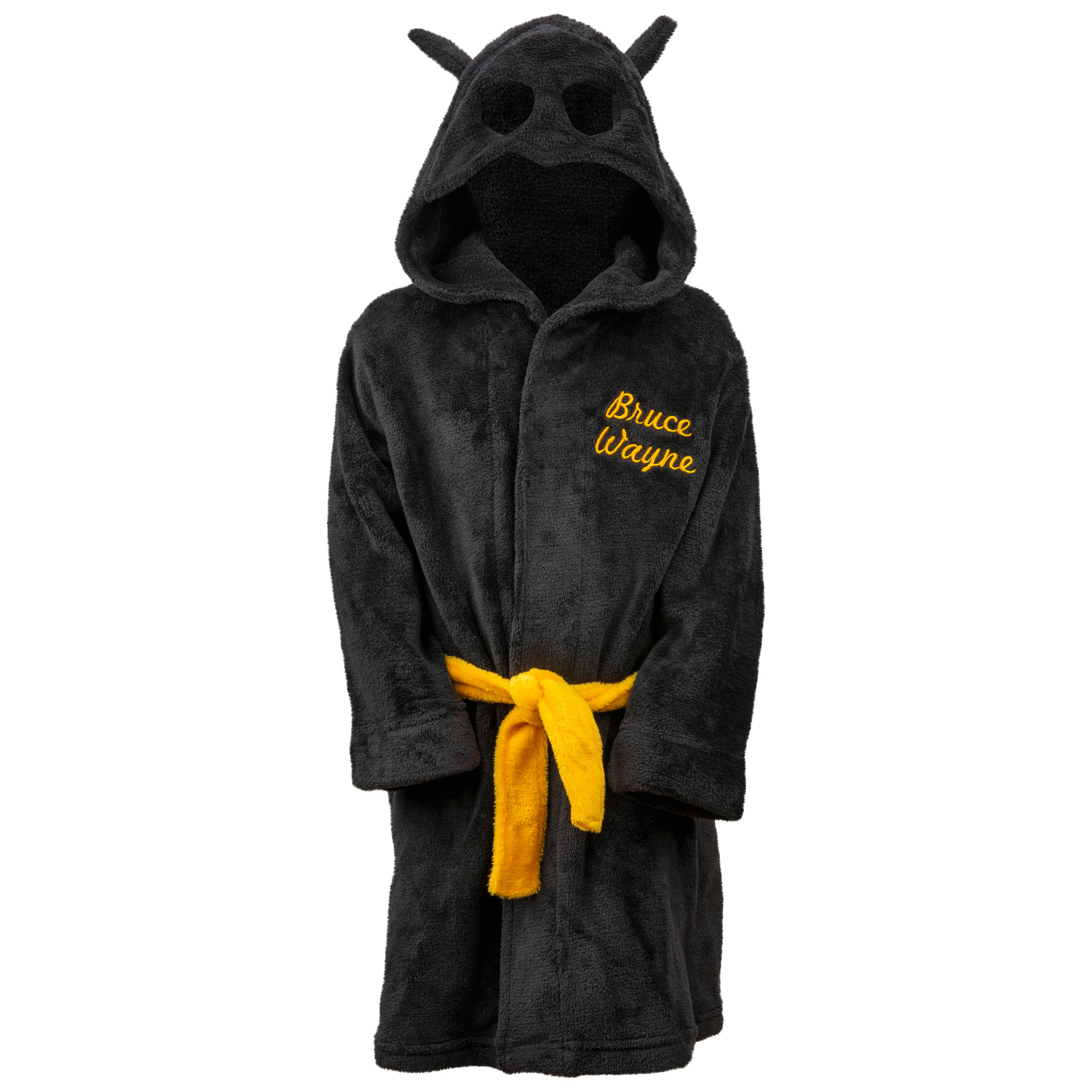 Batman Bruce Wayne Velvet Fleece Kids Hooded Robe