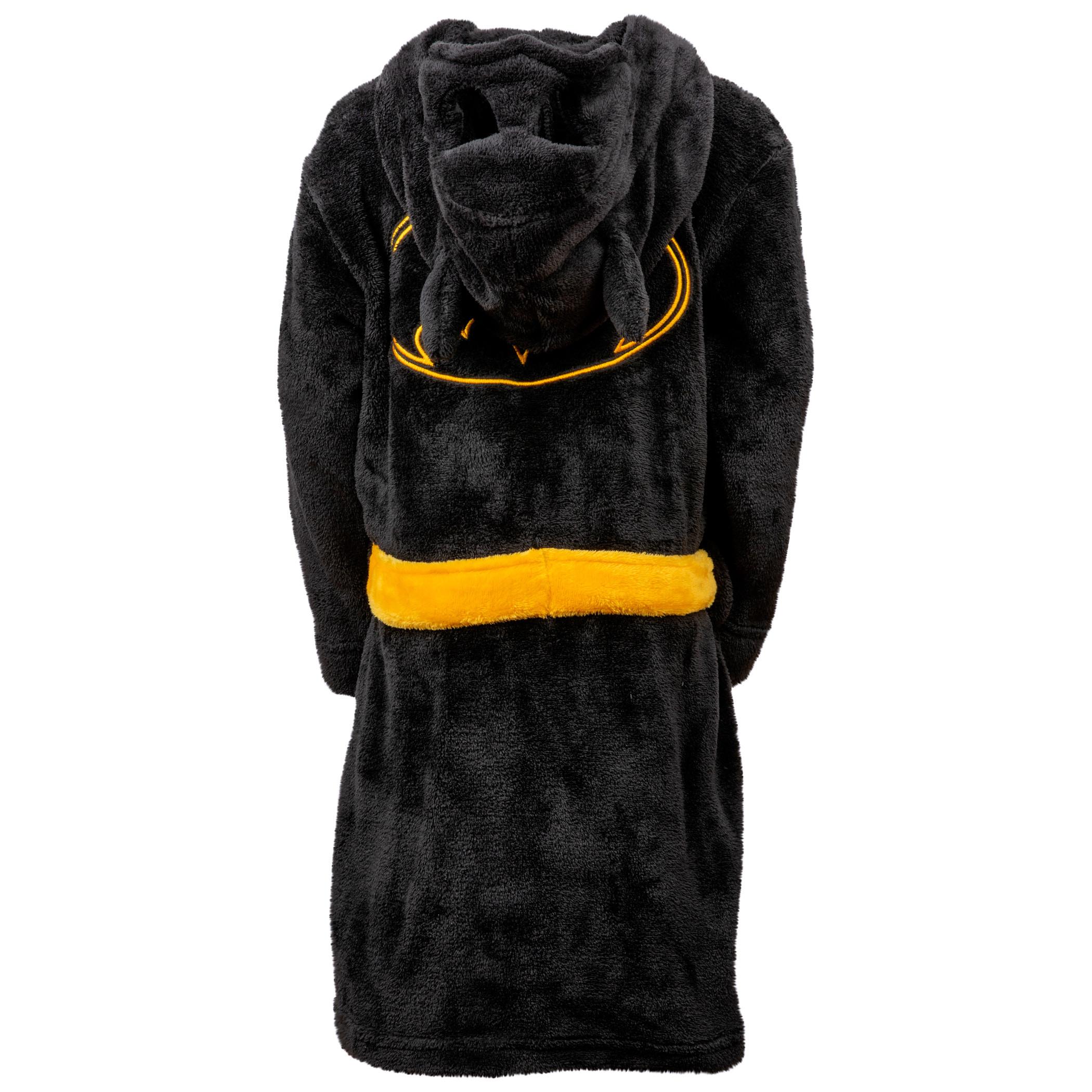 Batman Bruce Wayne Velvet Fleece Kids Hooded Robe