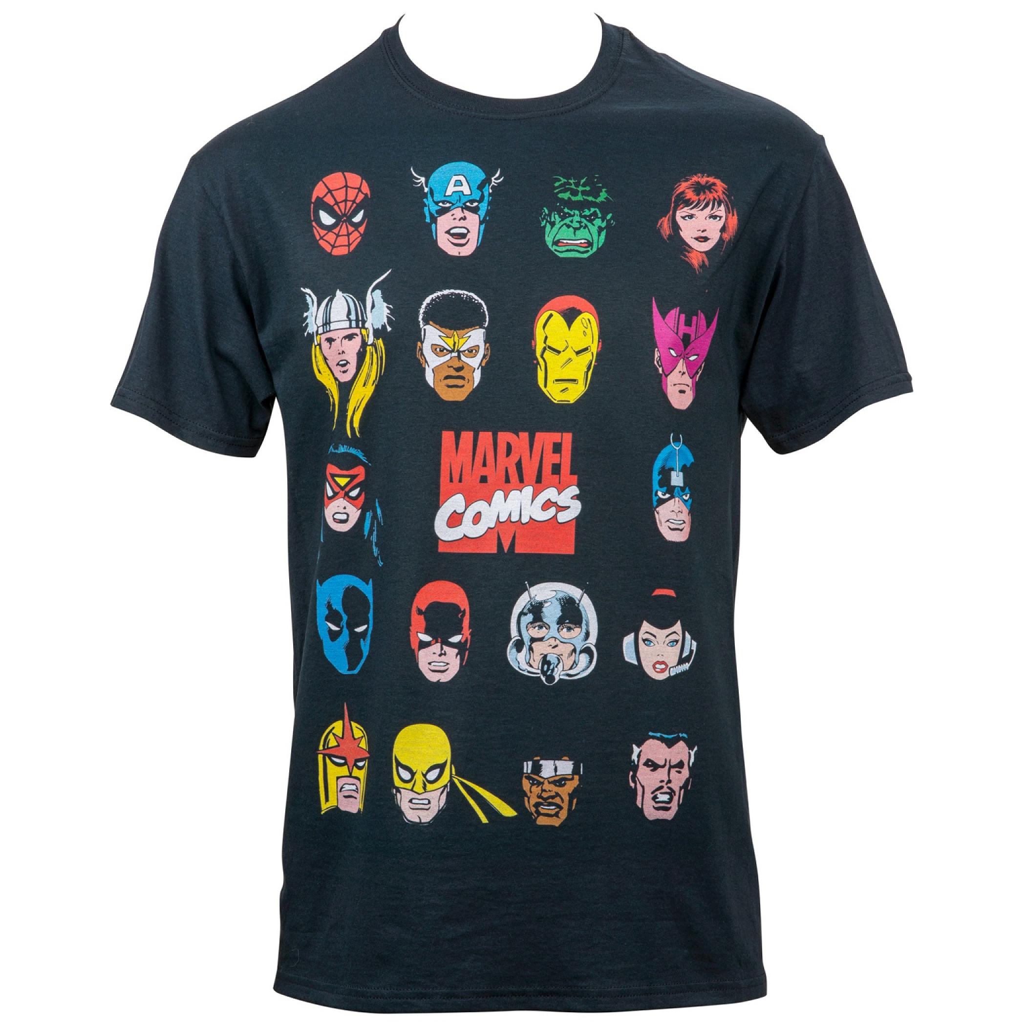 Marvel Comics Hero Portrait Bingo T-Shirt