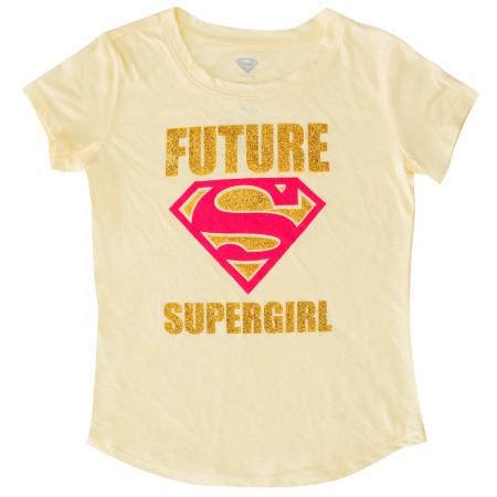Superman Youth Girls Yellow Future Supergirl T-Shirt