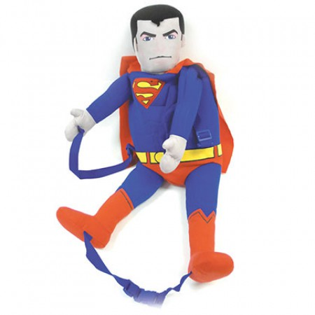 Superman Blue And Red Backpack Buddy
