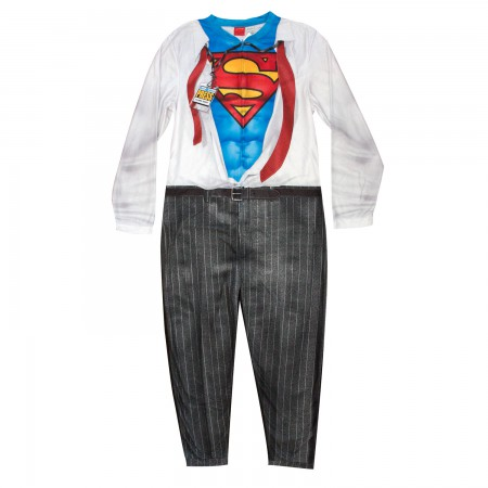 Superman Clark Kent Pajama Union Suit Men's Costume