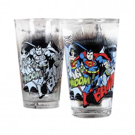 DC Comics Justice League Color Changing 16 Ounce Pint Glass