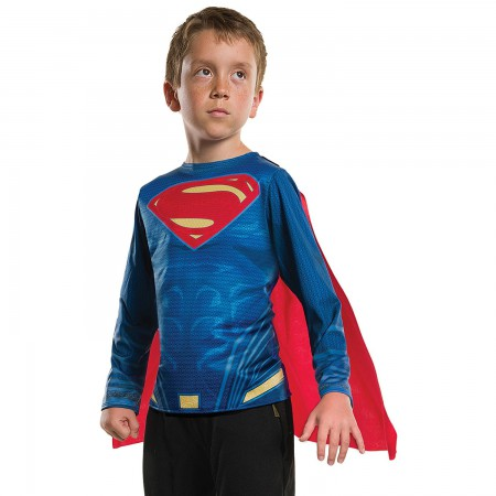 Superman Boy's Blue Caped Costume T-Shirt