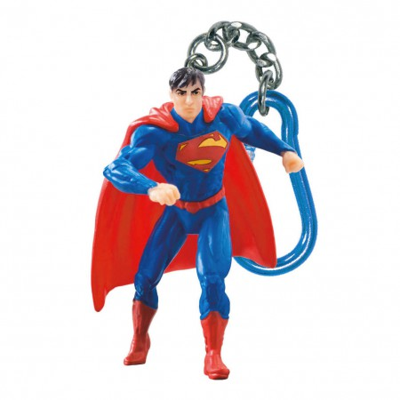 Superman Figure Plastic Keychain