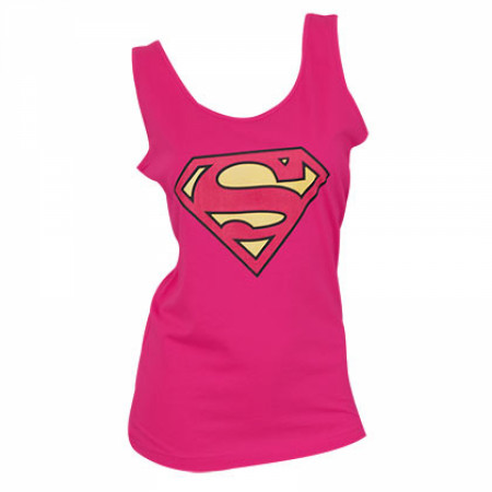 Superman Logo Women's Pink Tank Top