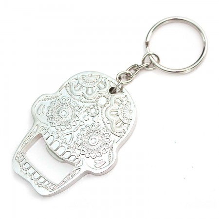Candy Skull Bottle Opening Keychain