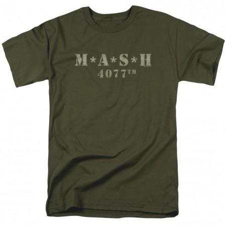 MASH Distressed Logo Green T-Shirt