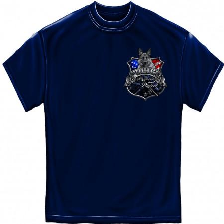 K9 Police Dog Blue Foil T-Shirt