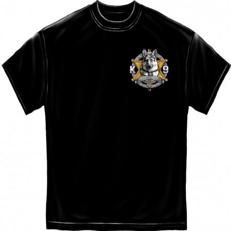 Police K9 Sheriff Foil Black T-Shirt