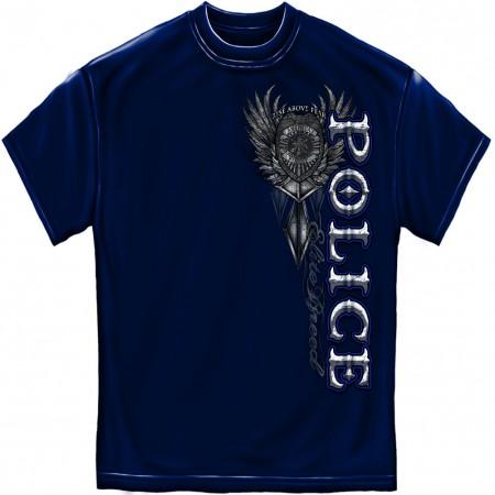 Police Rise Above Fear Foil Blue T-Shirt