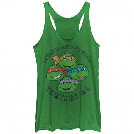 Teenage Mutant Ninja Turtles Turtles 84 Green Juniors Tank Top