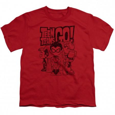 Teen Titans Go! Team Up Youth Tshirt