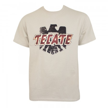 Tecate Men's Tan Logo T-Shirt