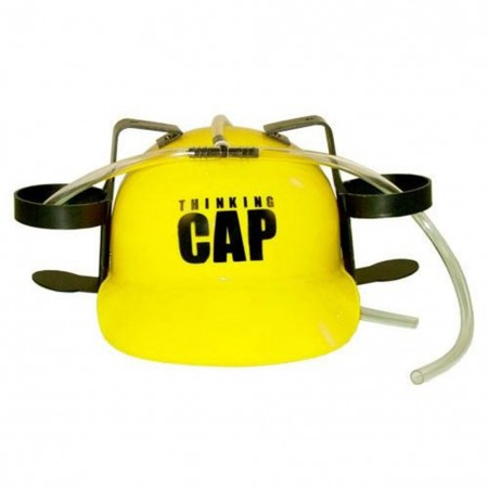 Thinking Cap Beer Drinking Hat - Yellow