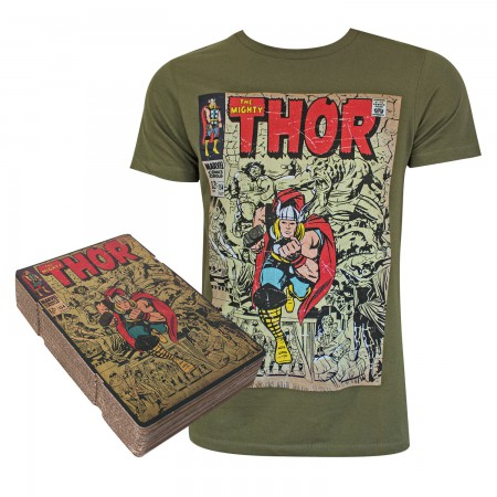 Thor Men's Green Corrugated Boxed T-Shirt