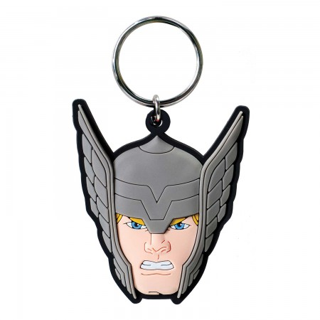Thor Rubber Face Keychain