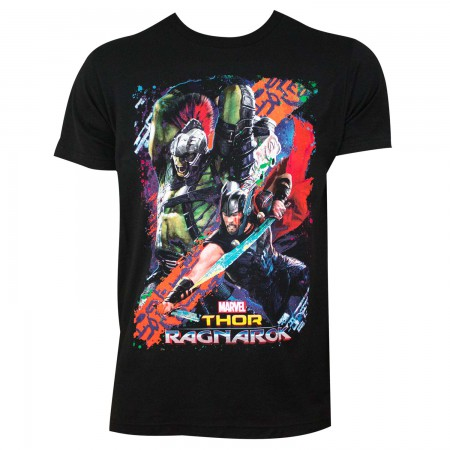 Thor Ragnarok Men's Black Movie Battle T-Shirt