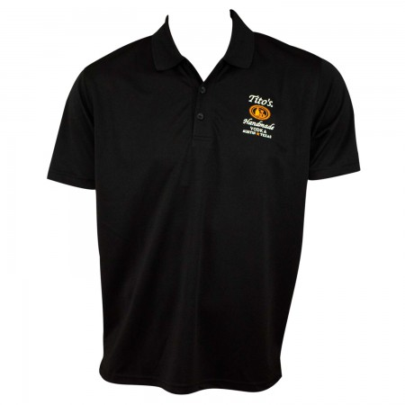 Tito's Vodka Men's Black Polo Shirt