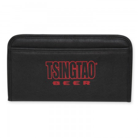 Tsingtao Beer Black Leather Wallet