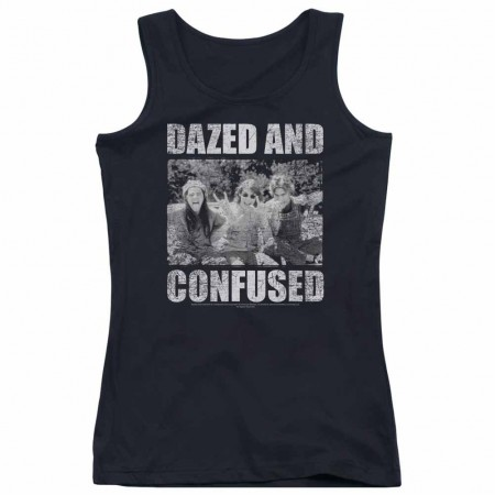 Dazed And Confused Rock On Black Juniors Tank Top
