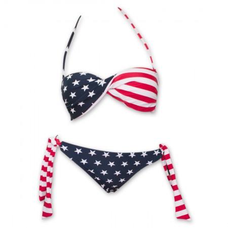 USA Women's American Flag Bikini Set