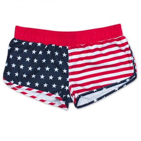 USA Patriotic American Flag Junior Swim Shorts