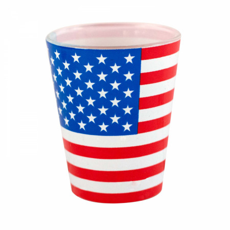 American Flag Patriotic Shot Glass