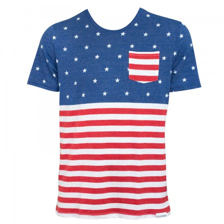 American Flag Pocket Men's T-Shirt