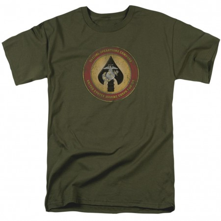 US Marines Special Operations Command Green Tshirt