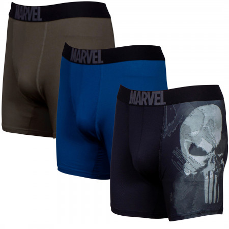 The Punisher Performance Mesh Underwear Boxer Briefs 3-Pair Pack