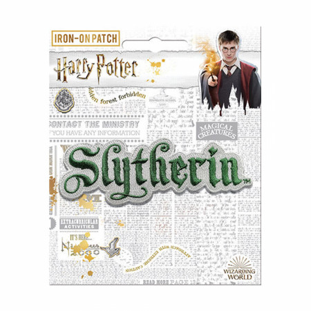 Harry Potter Slytherin Text Iron On Patch