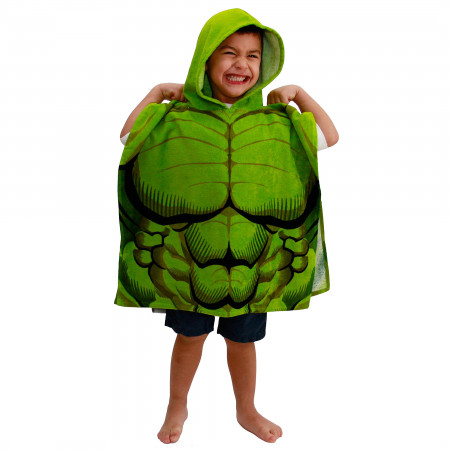 Marvel Incredible Hulk Youth Hooded Poncho Towel