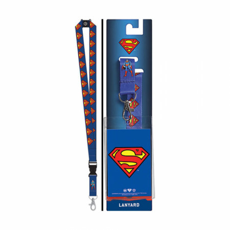 Superman Repeating Logos Lanyard