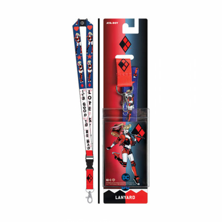 Harley Quinn Good To Be Bad Lanyard