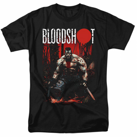 Bloodshot Welcome To The Jungle Black T-Shirt