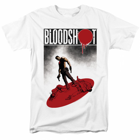 Bloodshot Gun Down White T-Shirt