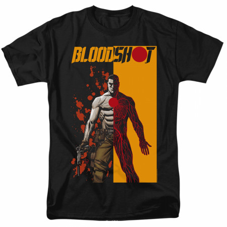 Bloodshot Split Black T-Shirt