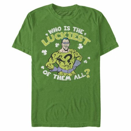 The Riddler Who Is The Luckiest Of Them All St. Patrick's Day T-Shirt