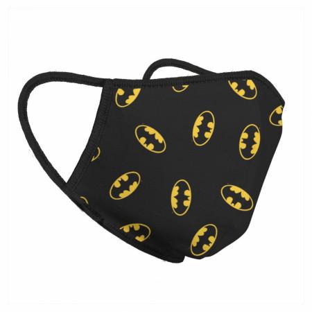 Batman Classic Symbols All Over Print Face Mask