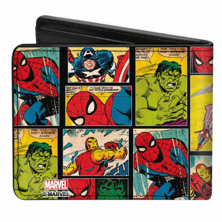 Marvel Comics Retro Panel Bi Fold Wallet