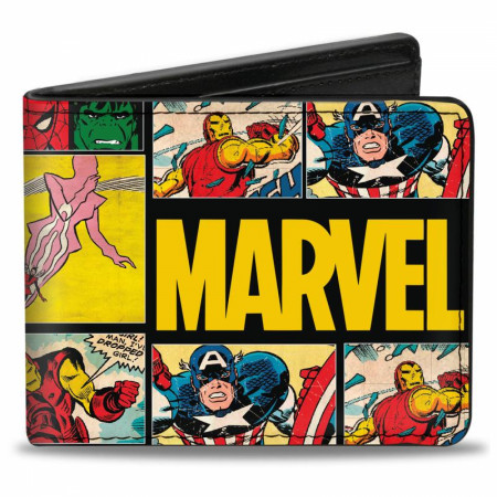 Marvel Comics Panel Bi Fold Wallet