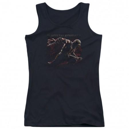 Mortal Kombat X Scorpion Lunge Black Juniors Tank Top