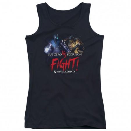 Mortal Kombat X Fight Black Juniors Tank Top