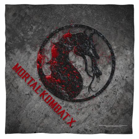 Mortal Kombat X Bloody Stone Logo Bandana